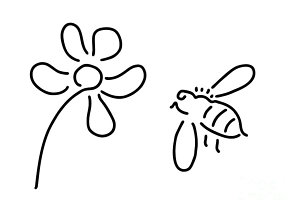 300x212 Honey Bees Drawings Fine Art America