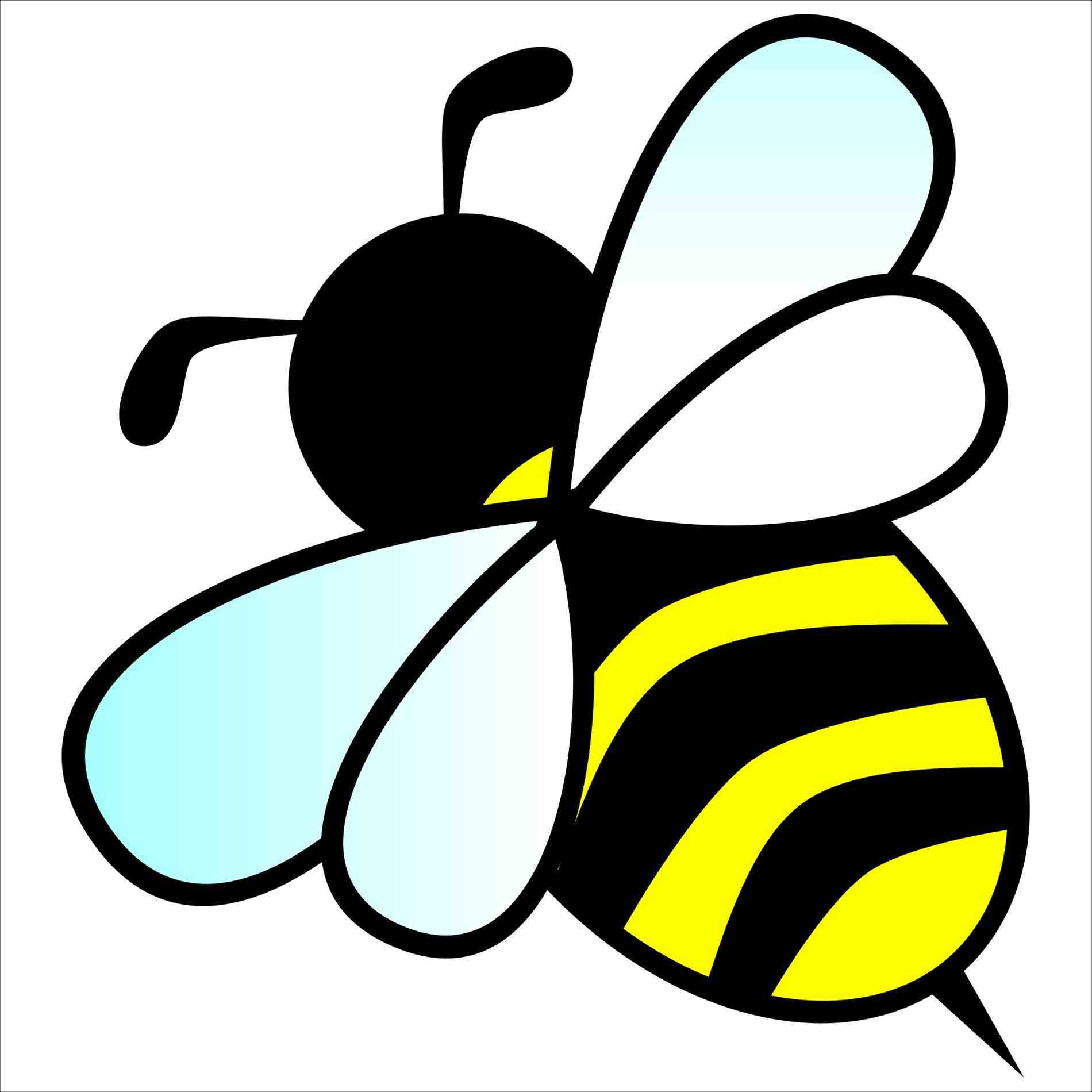 1900x1900 Cartoon Sketch Picture Drawing Cute Bumble Bee Drawings Cartoon