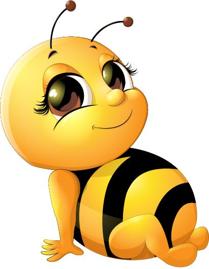 411x527 Bee Baby Cute Vector Set 03