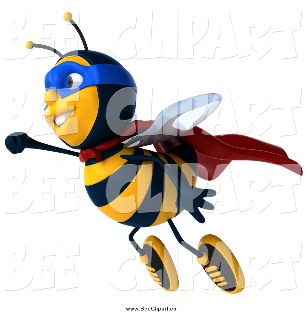 1024x1044 Clip Art Of A 3d Super Hero Honey Bee Flying By Julos