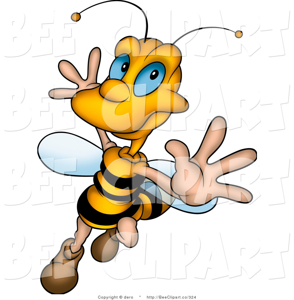 1024x1044 Clip Art Of A Happy Honey Bee Dancing And Flying By Dero