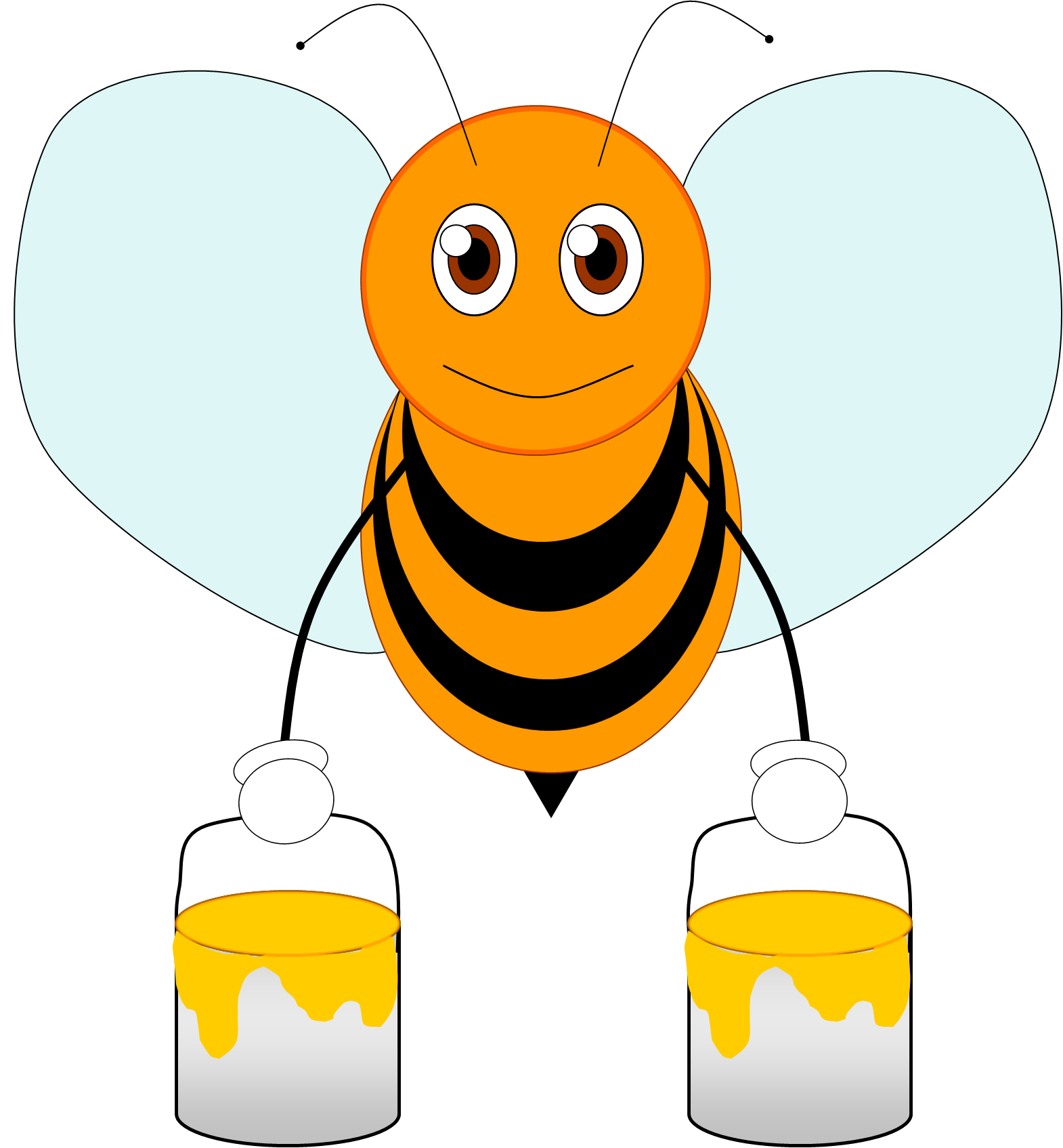 Honey Bees Clipart | Free download on ClipArtMag