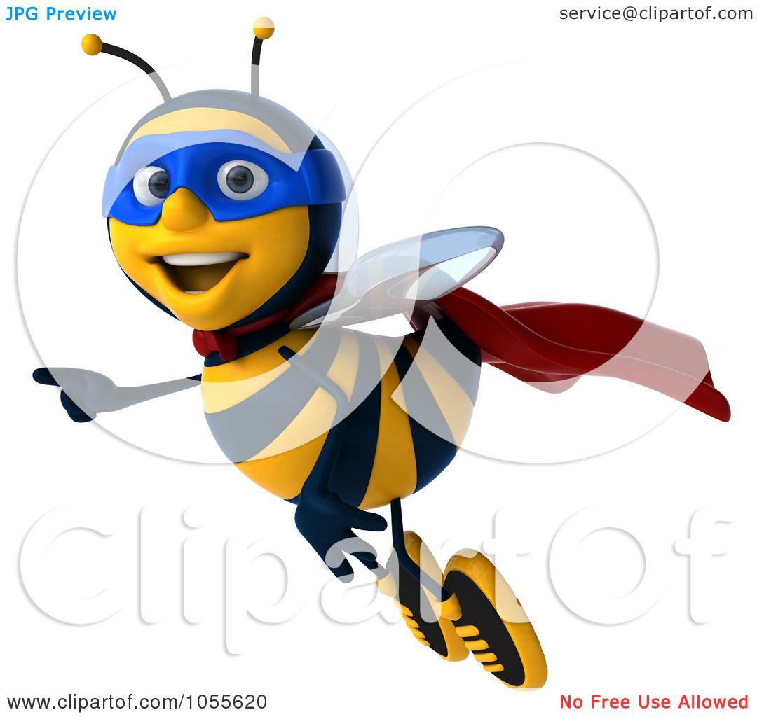 1080x1024 Royalty Free Cgi Clip Art Illustration Of A 3d Super Honey Bee