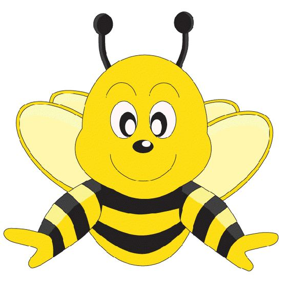 564x564 Honeybee Funny Cartoon Valentine Love Heart Honey Bees Clip Art