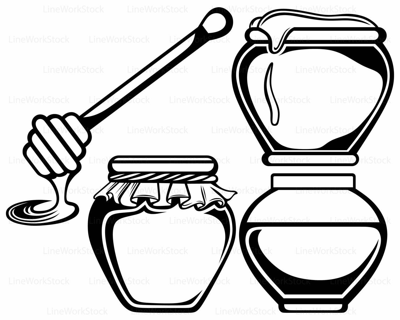 1500x1200 Wooden Honey Pot Svg,honey Clipart,honey Svg,silhouette,food