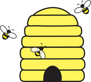 300x271 Honeybee Beehive Honey Bee Clipart Kid
