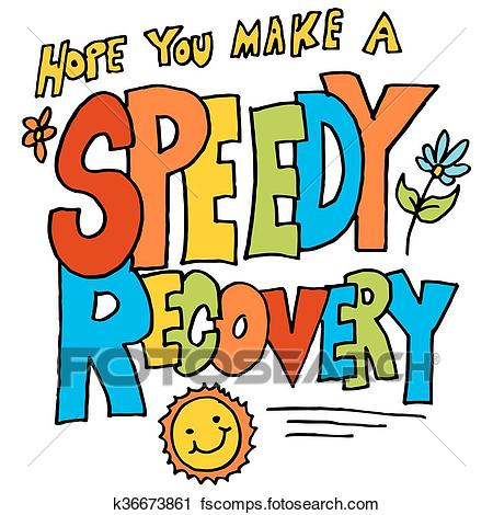 450x470 Clipart Of Hope You Make A Speedy Recovery Message K36673861