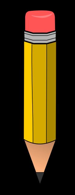 Pencil vertical. Horizontal clipart free download