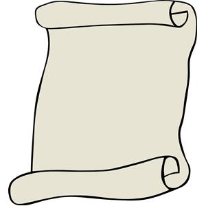 300x300 Scroll Clip Art 3