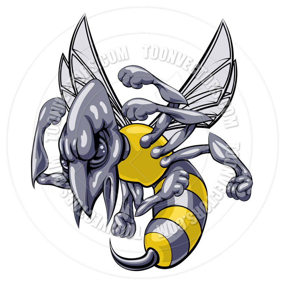 940x940 Mean Wasp Or Hornet Mascot By Geoimages Toon Vectors Eps