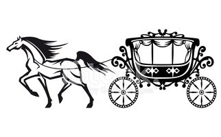 322x200 Horse With Vintage Carriage Stock Vectors