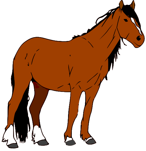 500x516 Horse Clip Art Black And White Free Clipart Images 3