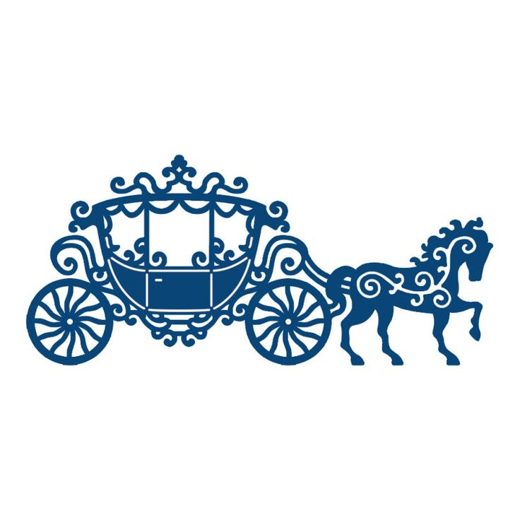 736x736 Horse Drawn Carriage Clipart Cinderella Carriage