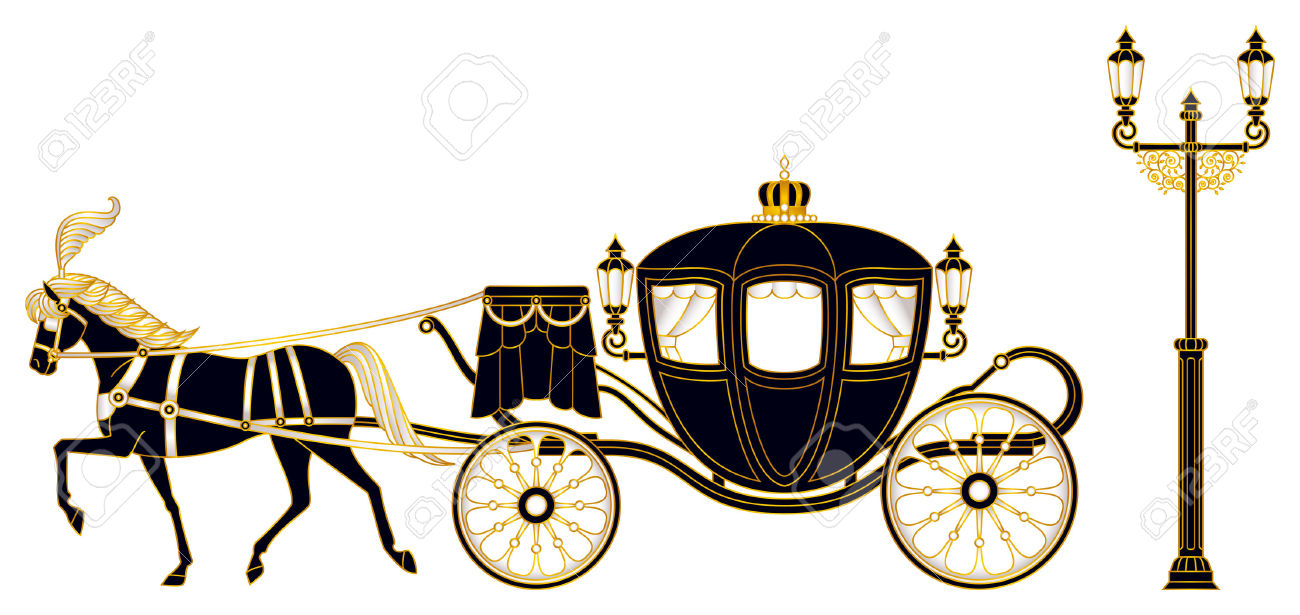 1300x615 Horse Drawn Carriage Clipart Old Fashioned