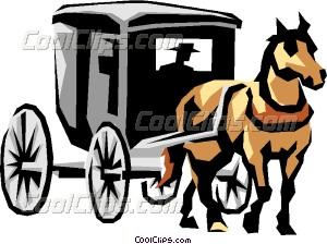 300x224 Horse Drawn Carriage Vector Clip Art