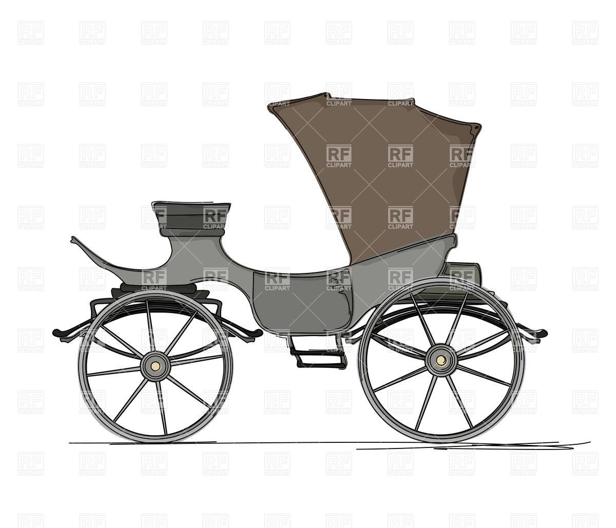 1200x1029 Horse Drawn Cartoon Carriage