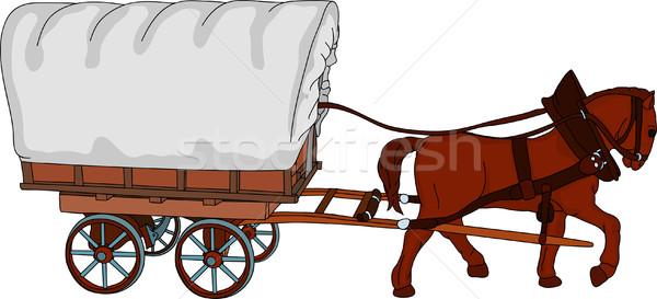 600x273 Horse Wagon Stock Vectors, Illustrations And Cliparts Stockfresh