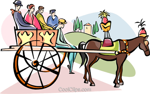 480x302 Horse Carriage Ride In Palermo, Sicily Royalty Free Vector Clip
