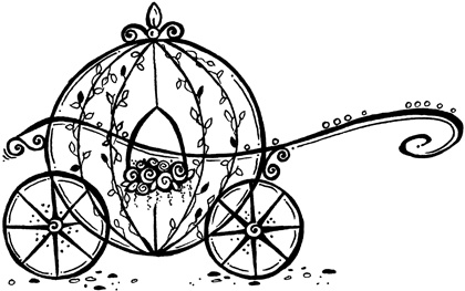420x263 Carriage Clipart Black And White