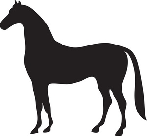 300x278 Horse Clip Art Black And White Free Clipart Images