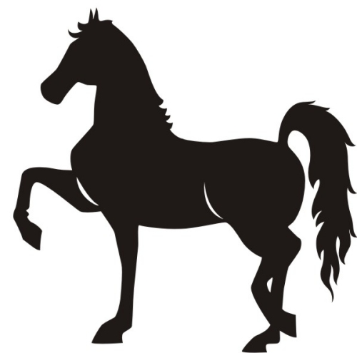 500x495 Horse Clip Art Black And White Silhouettes Free 2