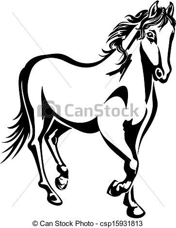 363x470 Stallion Clipart White Horse
