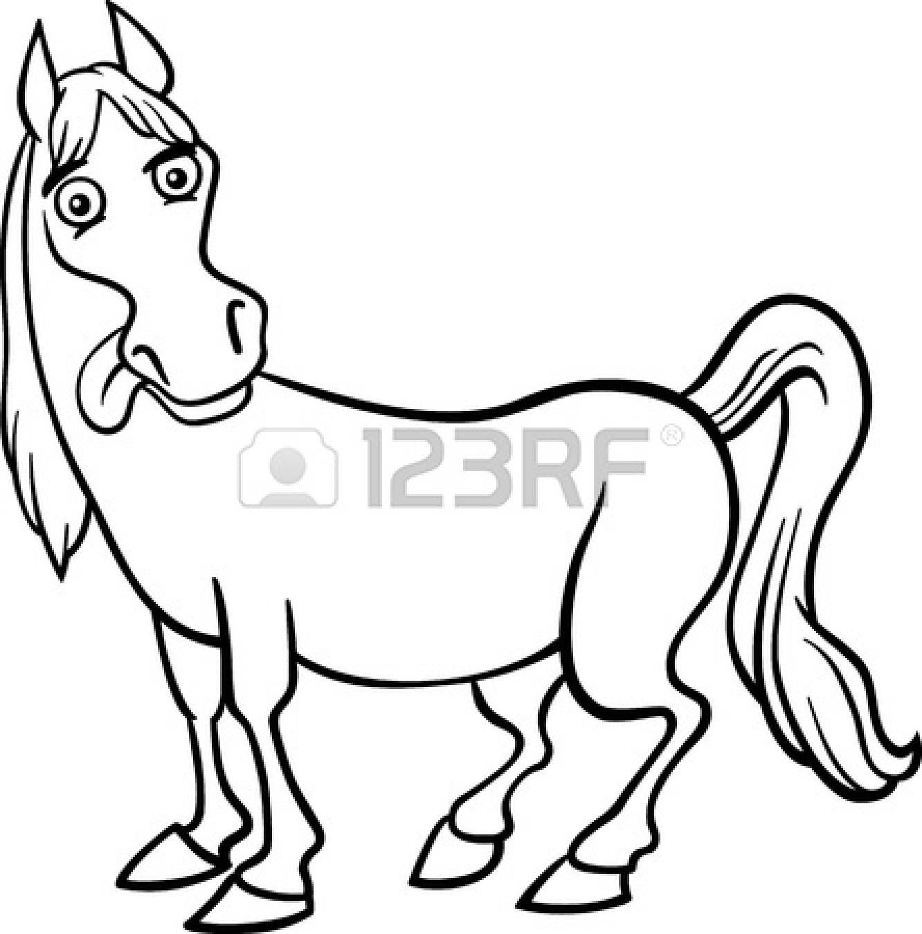 1332x1350 Farm Animal Black And White Clipart