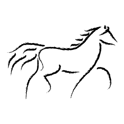 500x500 Horse Clip Art Black And White Free Clipart Images 6