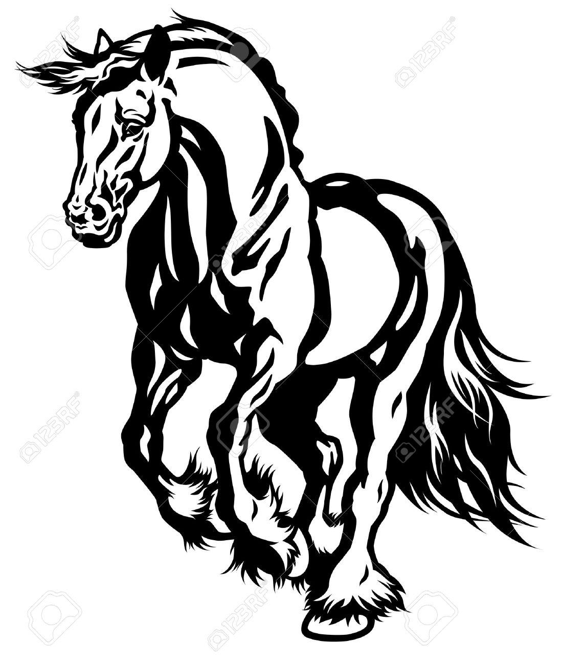 1097x1300 Stallion Clipart Black And White
