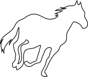 300x261 Horses Clipart Black And White