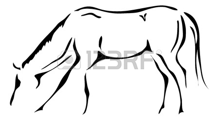 450x247 Black And White Outlines Of Horse Royalty Free Cliparts, Vectors