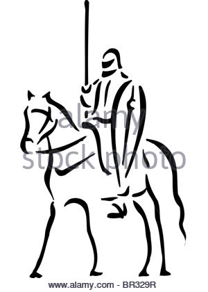 300x420 Black Man And White Horse Stock Photo, Royalty Free Image