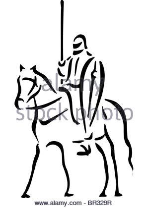 300x420 Black Man And White Horse Stock Photo, Royalty Free Image
