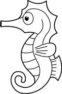 128x195 Free Black And White Animals Outline Clipart