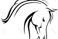 200x135 Hd Black And White Horse Head Clip Art File Free