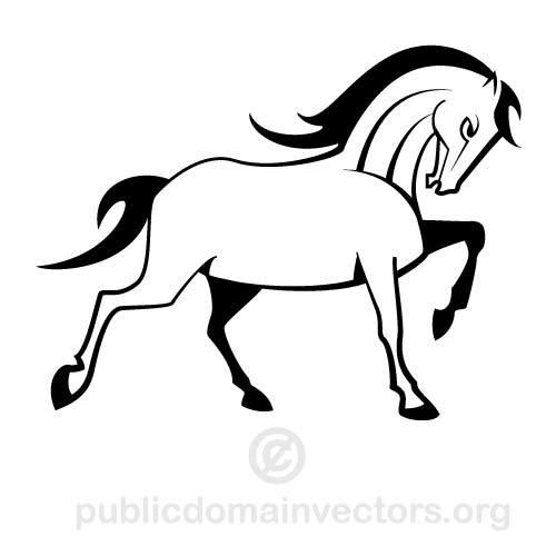 500x500 Horse Vector Clip Art Public Domain Vectors