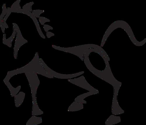 500x430 Vector Clip Art Of Tribal Horse Public Domain Vectors
