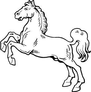 294x298 Clip Art Black And White White Horse Clip Art