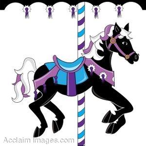 300x300 Clip Art Of A Carousel Horse