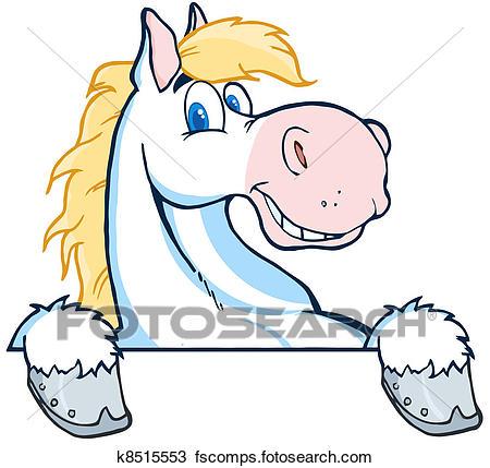 450x429 Clipart Of Horse Mascot Cartoon Head K8515553