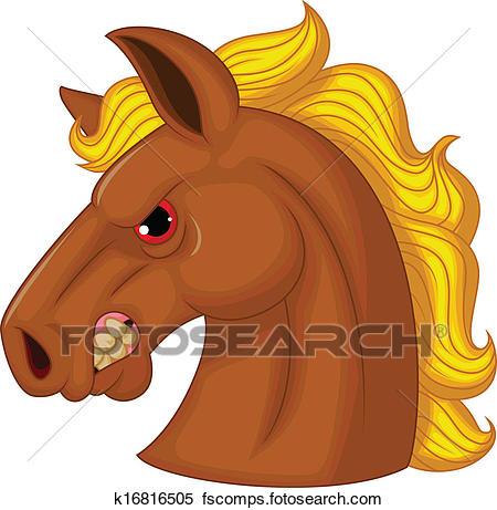 450x461 Clipart Of Horse Head Mascot Cartoon Character K16816505