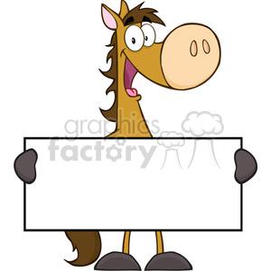 300x300 Royalty Free 5685 Royalty Free Clip Art Horse Cartoon Mascot