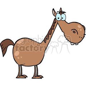 300x300 Royalty Free Cartoon Character Horse 379313 Vector Clip Art Image