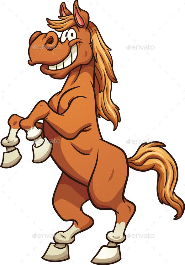 590x844 Cartoon Horse By Memoangeles Graphicriver
