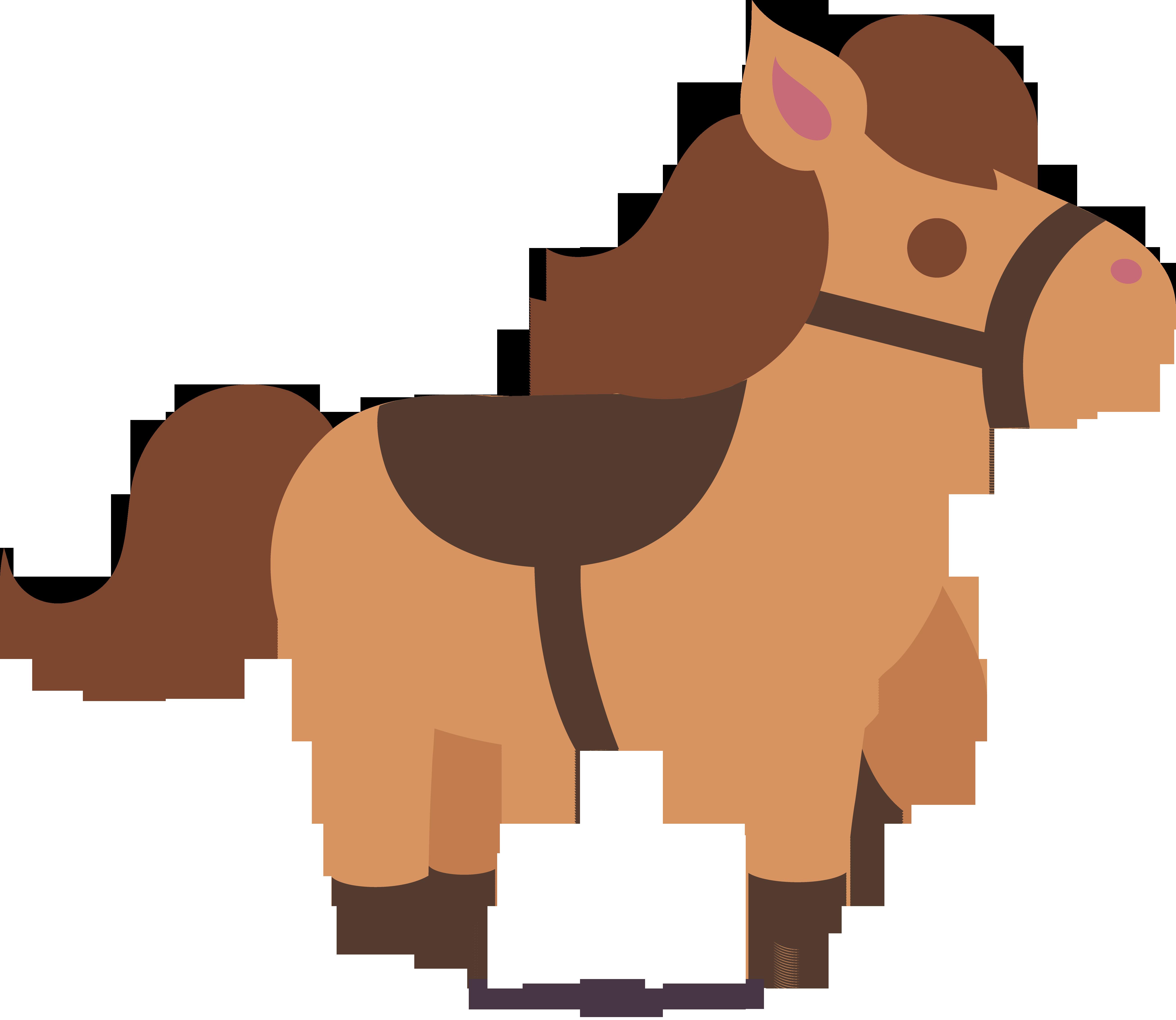 5223x4532 Cute Brown Horse 2 Clip Art