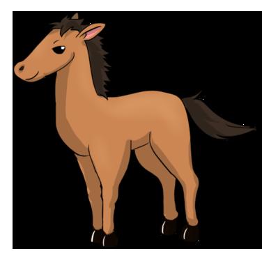 376x370 Free Cartoon Horse Clip Art
