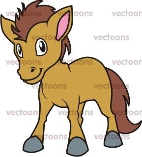 289x320 Happy Horse Cartoon