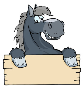 285x300 Horse Cartoon Clipart Image