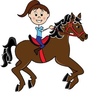 287x300 Horse Cartoon Clipart Image