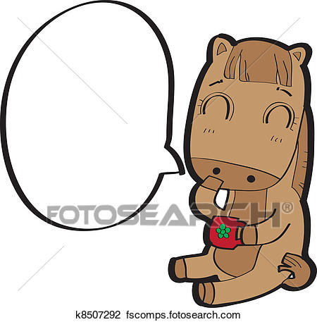 450x457 Clipart Of Horse Cartoon Vector K8507292